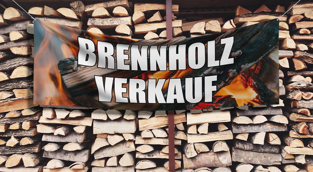 Kaminholz Brennholz Verkauf Werbung